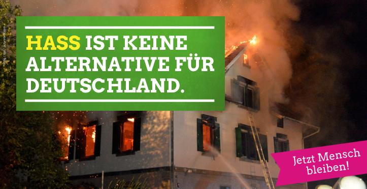 Hass ist keine Alternative für Deutschland