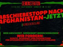 Demo für Bleiberecht afghanischer Geflüchteter
