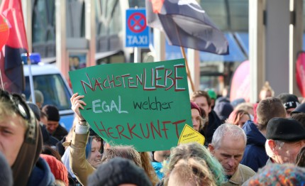 Demonstration gegen AfD 2015
